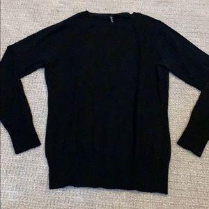 RELATIVITY thin rib knit long sleeve sweater